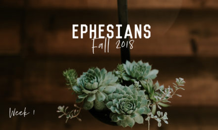 Bible Study – Ephesians – Week 1