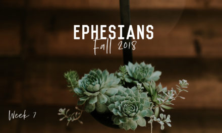 Bible Study – Ephesians – Week 7
