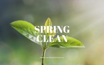 A Spiritual Spring Clean
